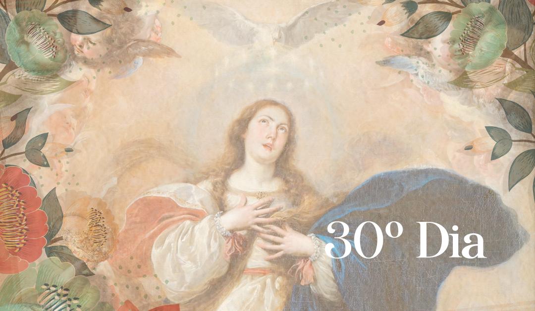 30 Dia: A Rainha do Céu no Reino da Divina Vontade. Mestra dos Apóstolos, sede e centro da Igreja nascente, barca de refúgio. A descida do Espírito Santo.